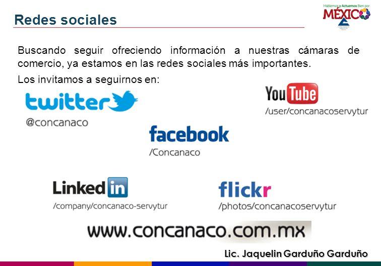 Redes sociales Buscando seguir ofreciendo información a nuestras cámaras de comercio, ya estamos en las redes sociales más importantes.