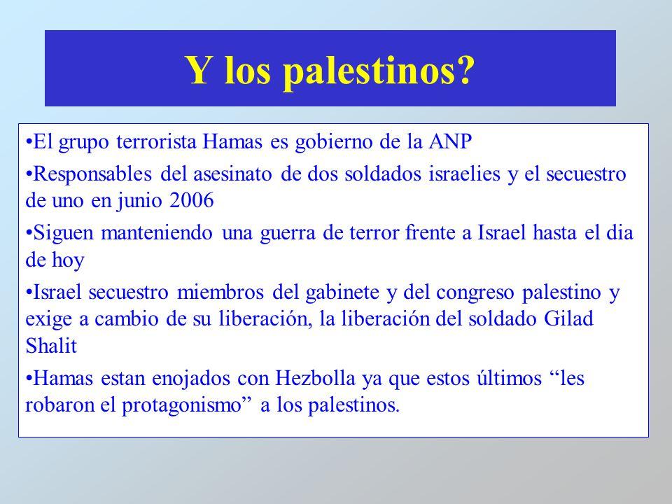Y los palestinos El grupo terrorista Hamas es gobierno de la ANP