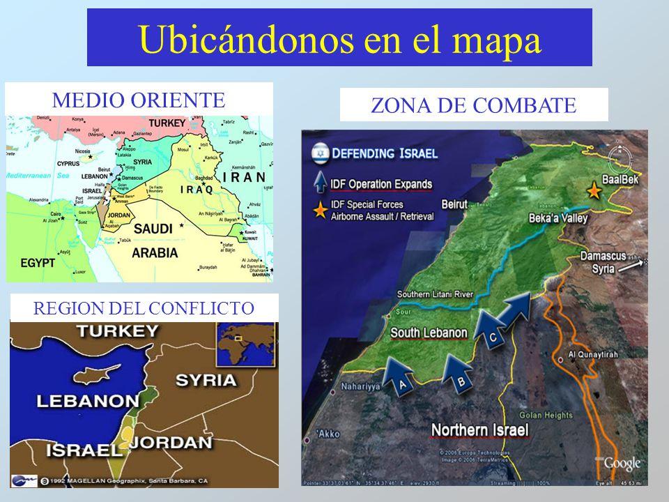 Ubicándonos en el mapa MEDIO ORIENTE ZONA DE COMBATE