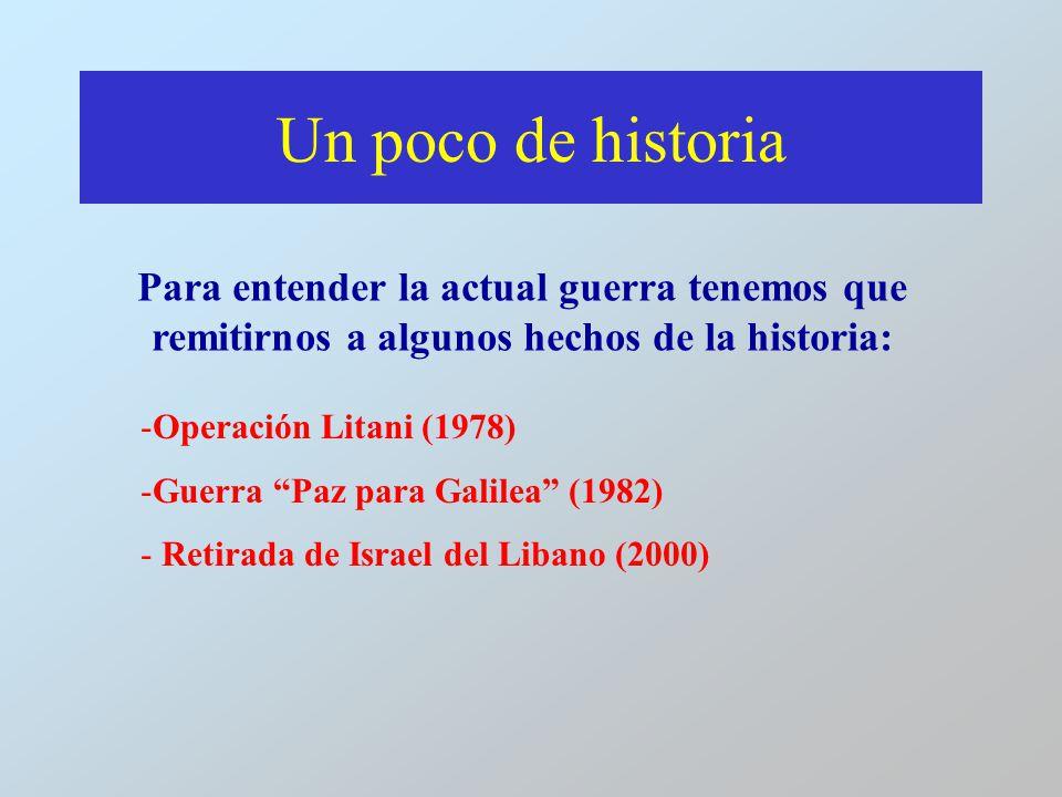 Un poco de historia Para entender la actual guerra tenemos que remitirnos a algunos hechos de la historia: