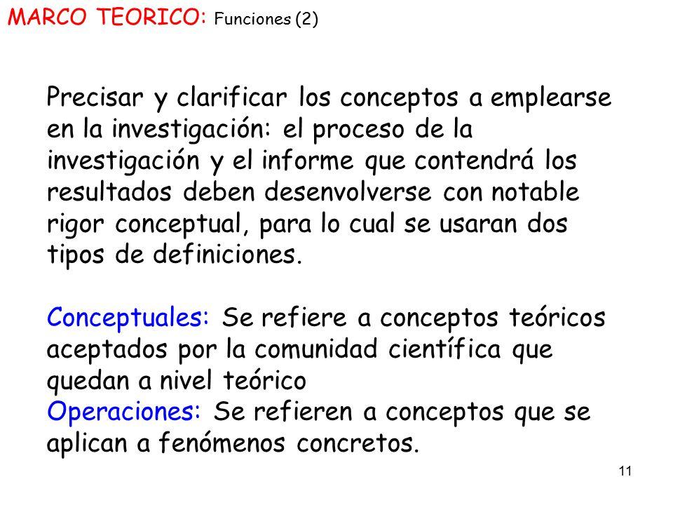 MARCO TEORICO: Funciones (2)