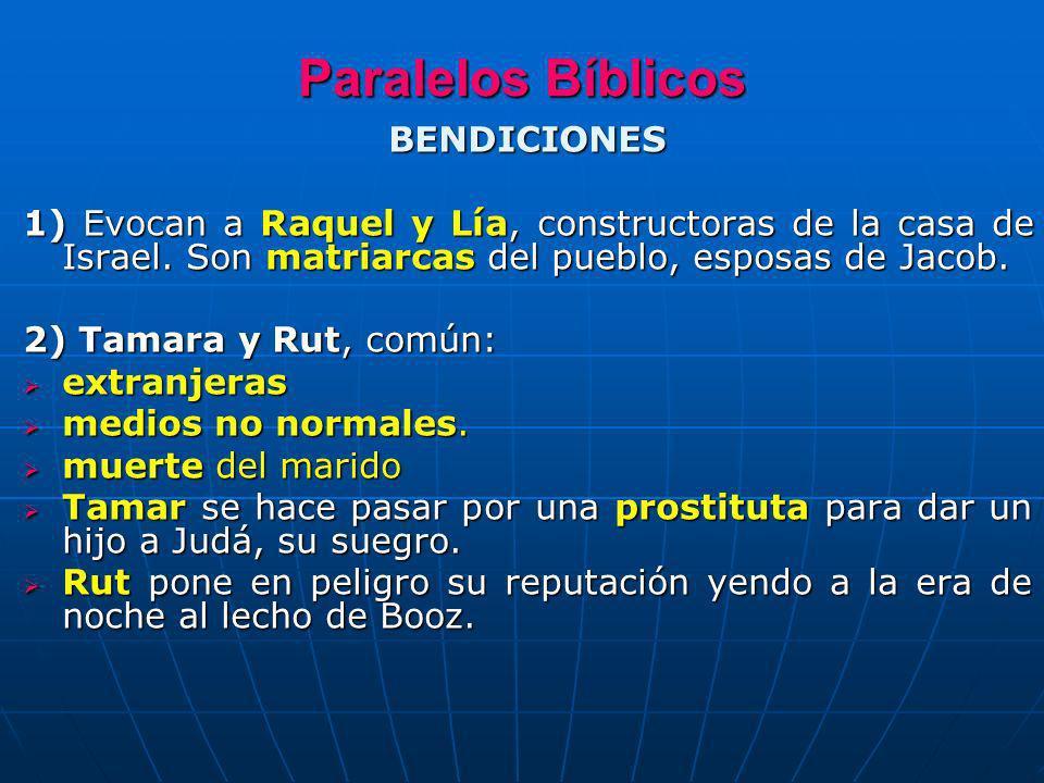 Paralelos Bíblicos BENDICIONES