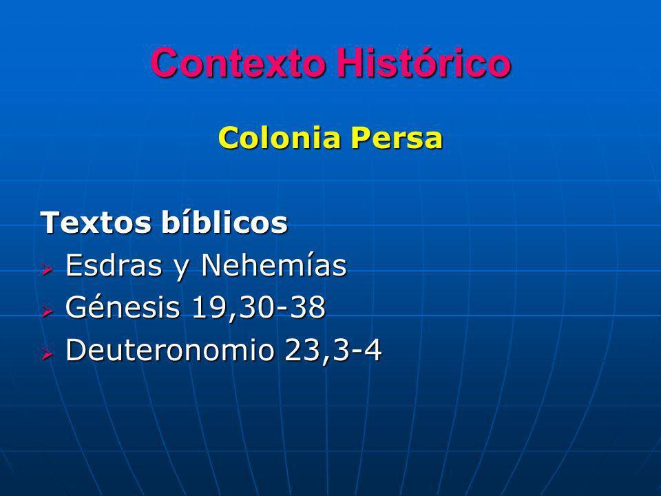 Contexto Histórico Colonia Persa Textos bíblicos Esdras y Nehemías