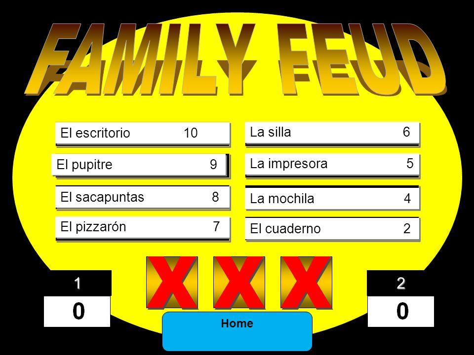 FAMILY FEUD X X X 1) X X X X X X DINOSAUR 43 5) X X X X X X EONS 5