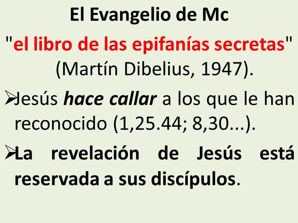 el libro de las epifanías secretas (Martín Dibelius, 1947).