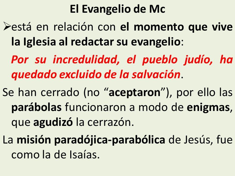 El Evangelio de Mcestá en relación con el momento que vive la Iglesia al redactar su evangelio: