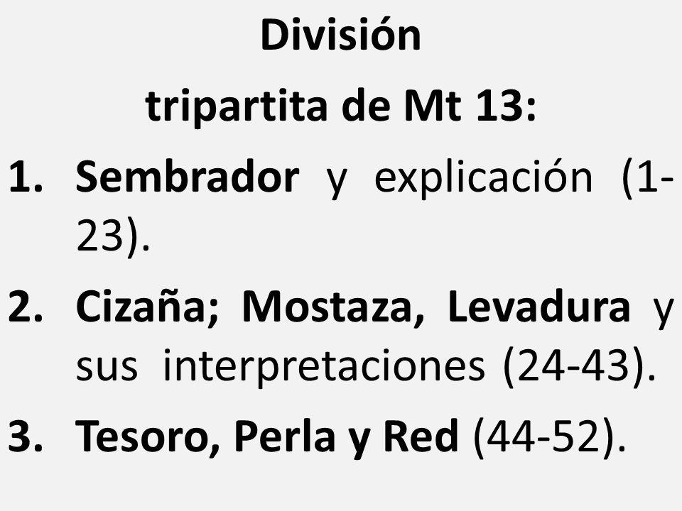 División tripartita de Mt 13: