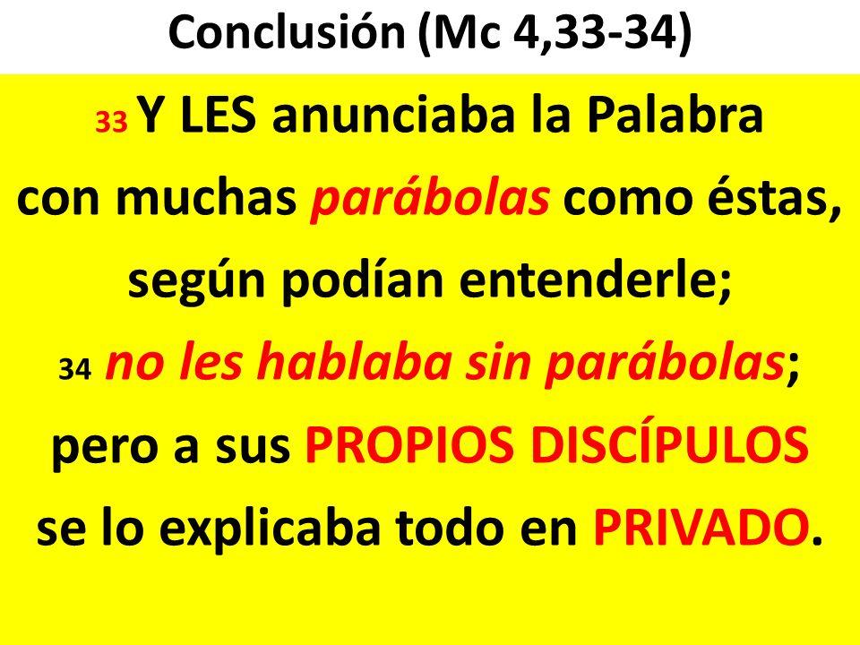 con muchas parábolas como éstas, según podían entenderle;