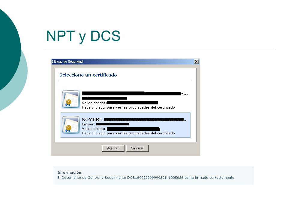 NPT y DCS
