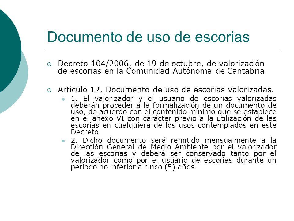 Documento de uso de escorias
