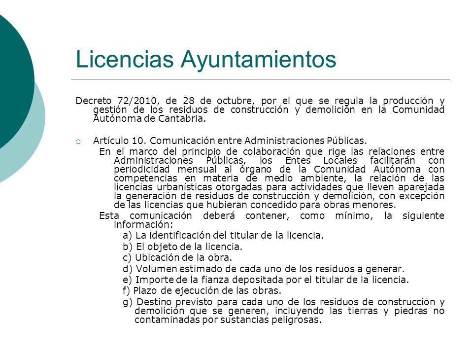 Licencias Ayuntamientos
