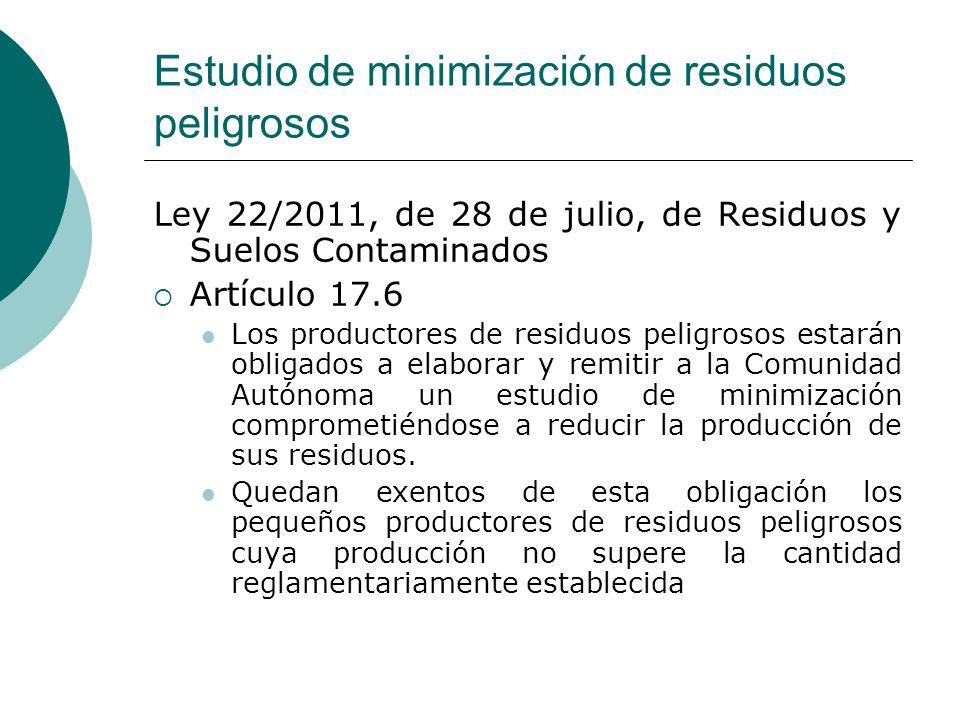 Estudio de minimización de residuos peligrosos
