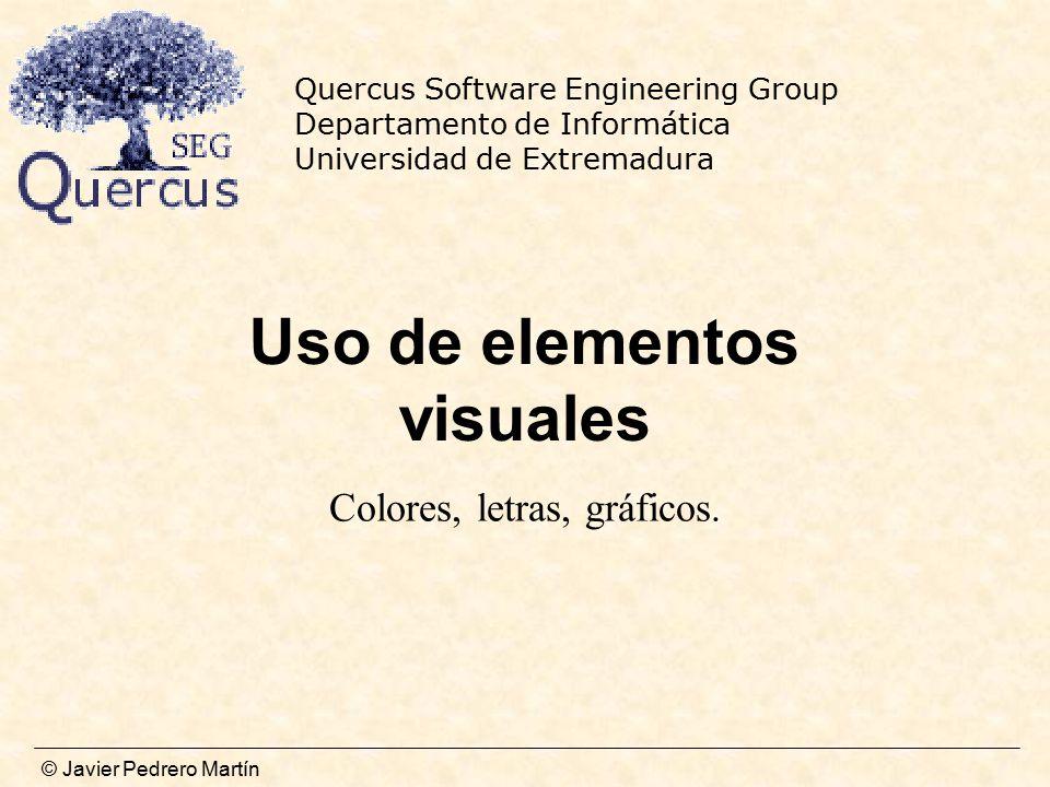 Uso de elementos visuales