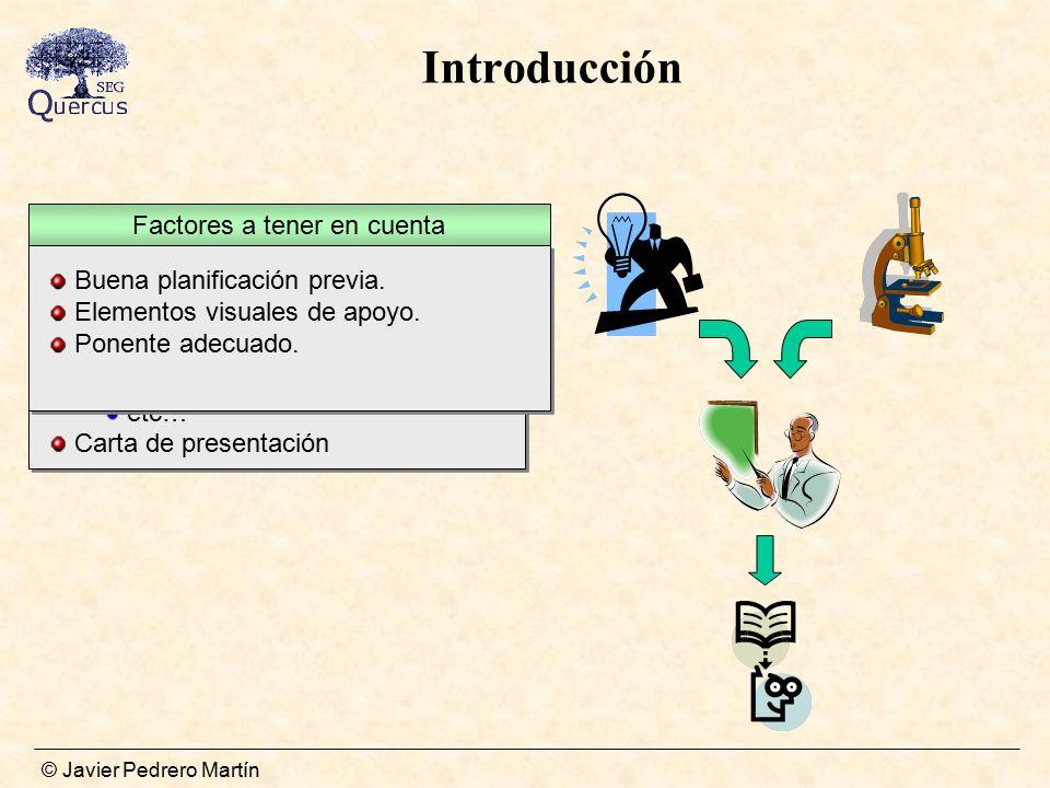 Introducción Buena planificación previa. Elementos visuales de apoyo.