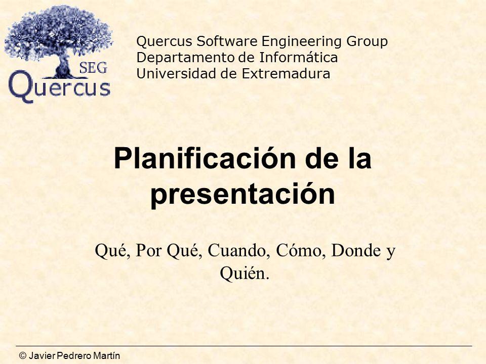 Planificación de la presentación