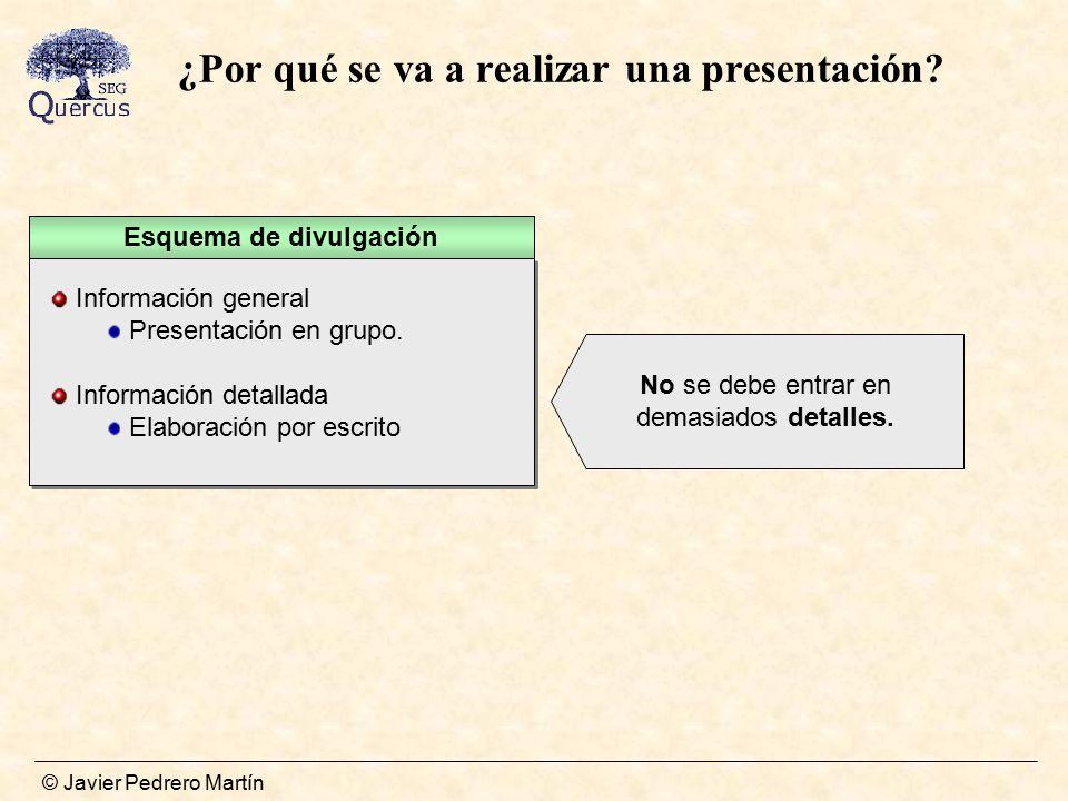 ¿Por qué se va a realizar una presentación