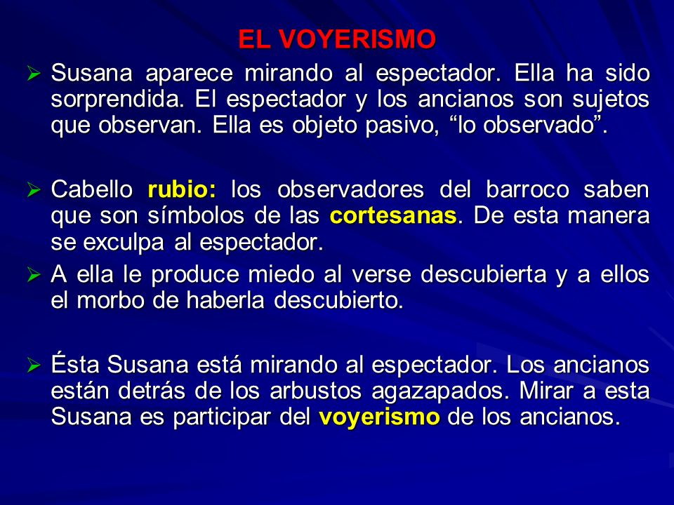 EL VOYERISMO