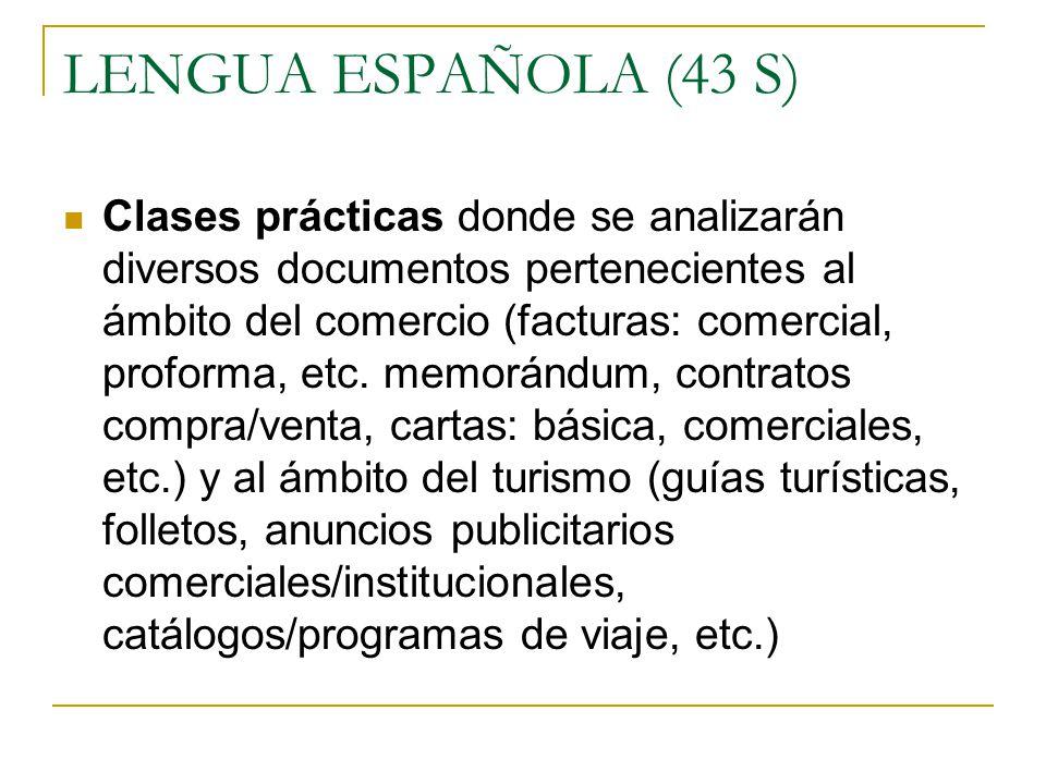 LENGUA ESPAÑOLA (43 S)