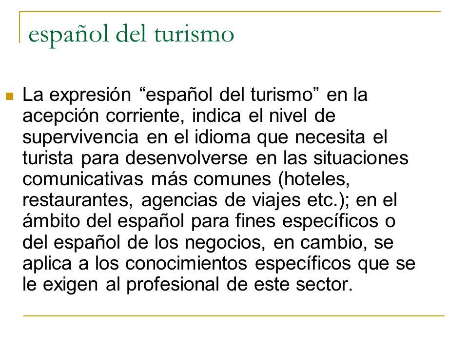 español del turismo