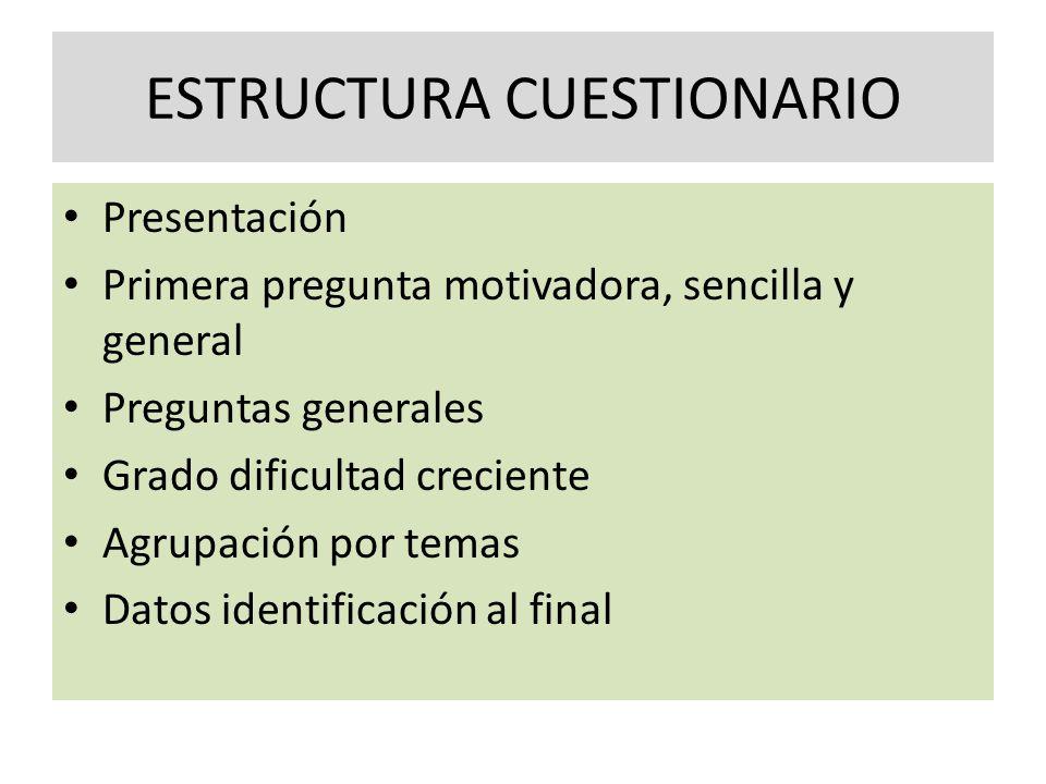 ESTRUCTURA CUESTIONARIO