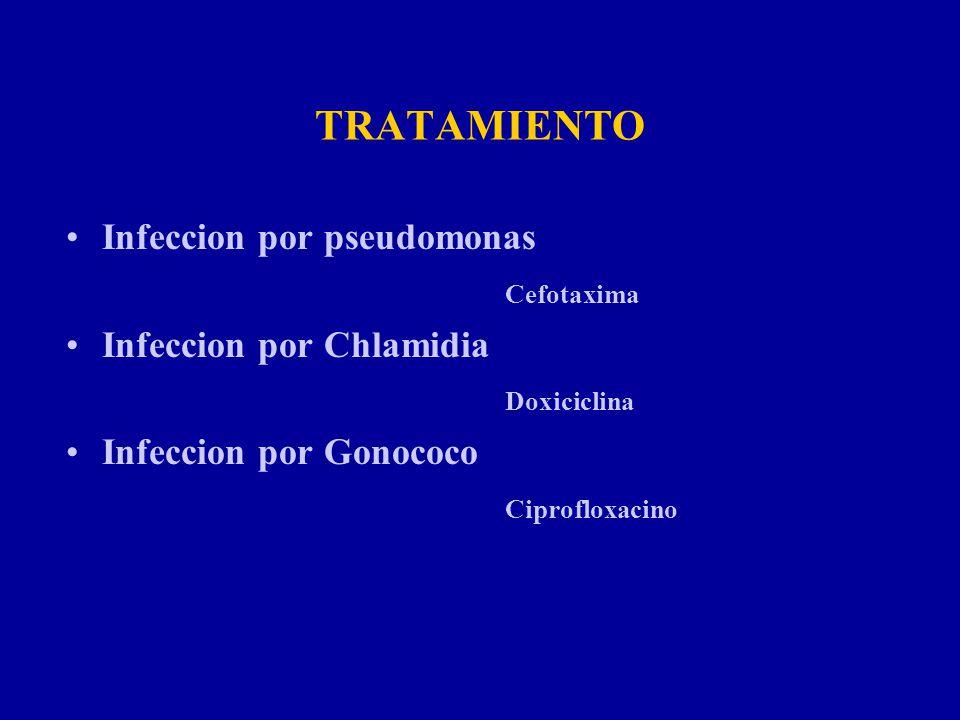 TRATAMIENTO Infeccion por pseudomonas Cefotaxima
