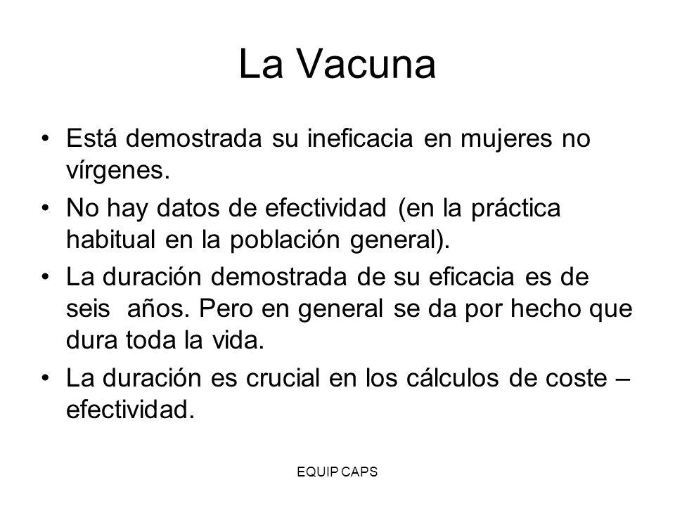 La Vacuna Está demostrada su ineficacia en mujeres no vírgenes.