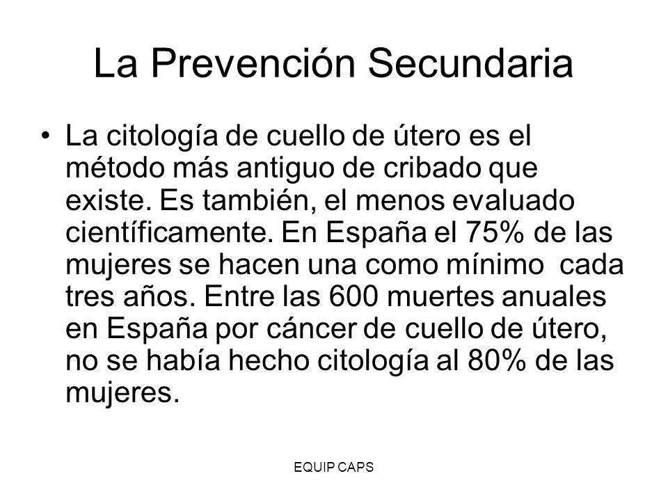La Prevención Secundaria