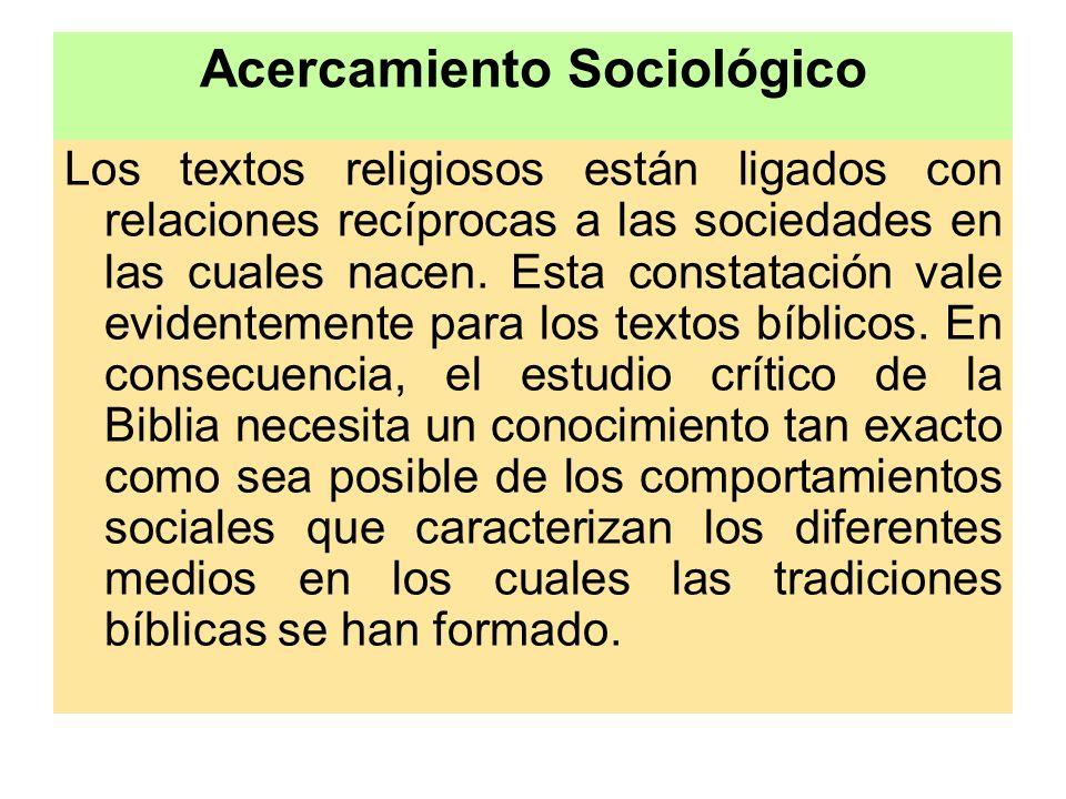 Acercamiento Sociológico