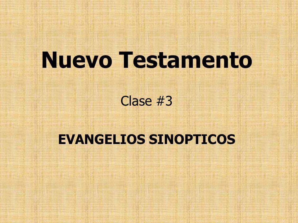 EVANGELIOS SINOPTICOS