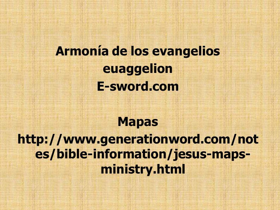 Armonía de los evangelios