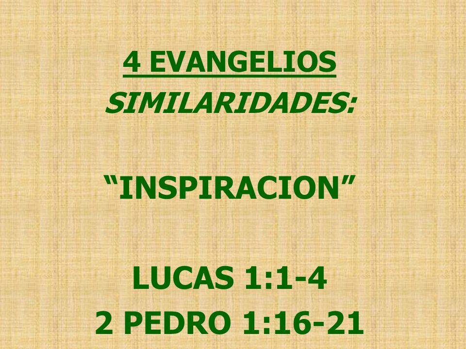 INSPIRACION LUCAS 1:1-4 2 PEDRO 1:16-21