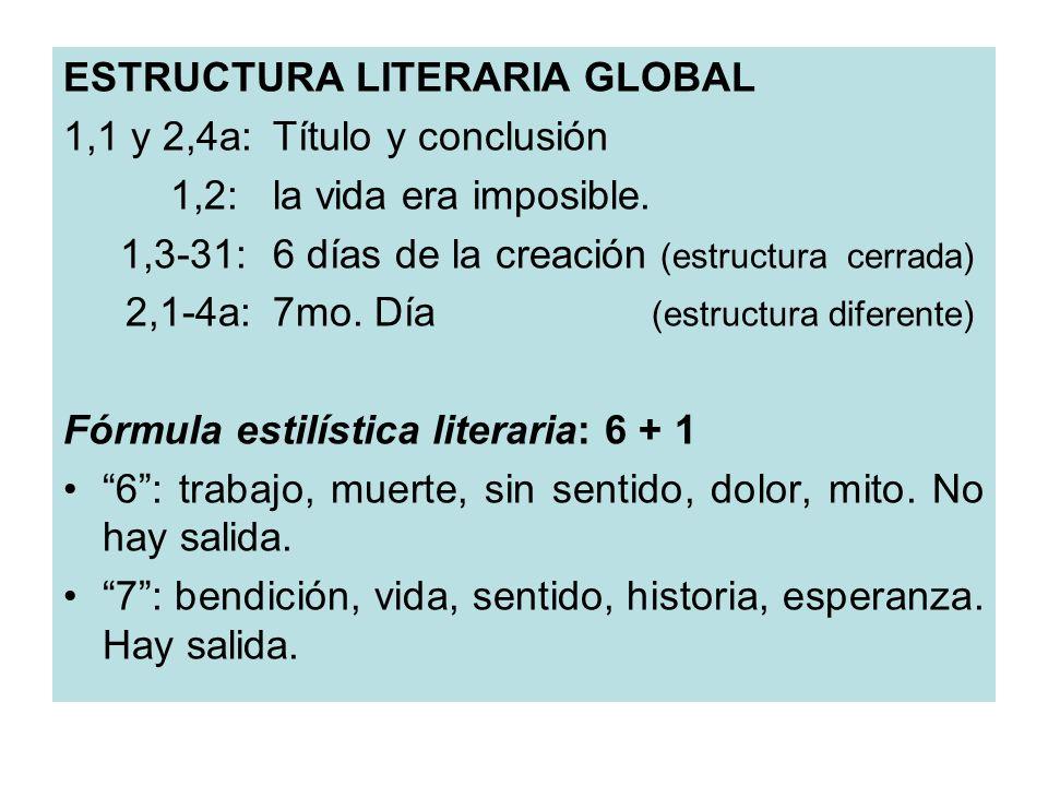 ESTRUCTURA LITERARIA GLOBAL