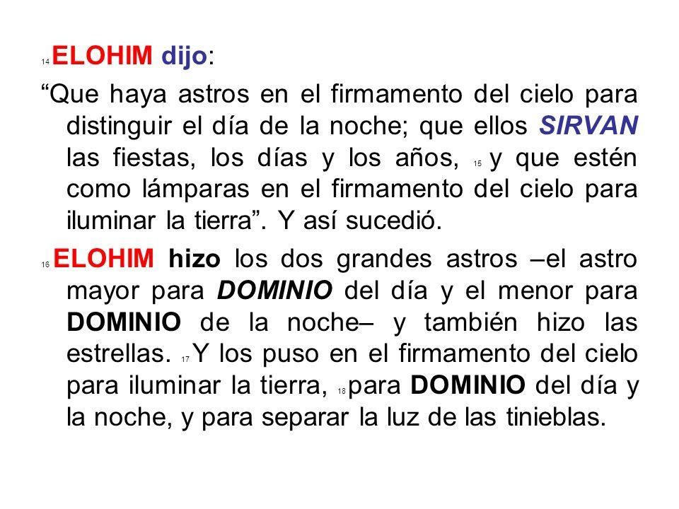 14 ELOHIM dijo:
