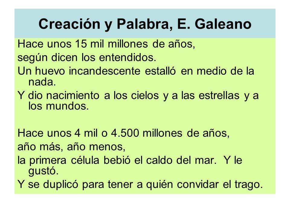 Creación y Palabra, E. Galeano