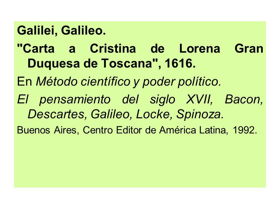 Carta a Cristina de Lorena Gran Duquesa de Toscana , 1616.