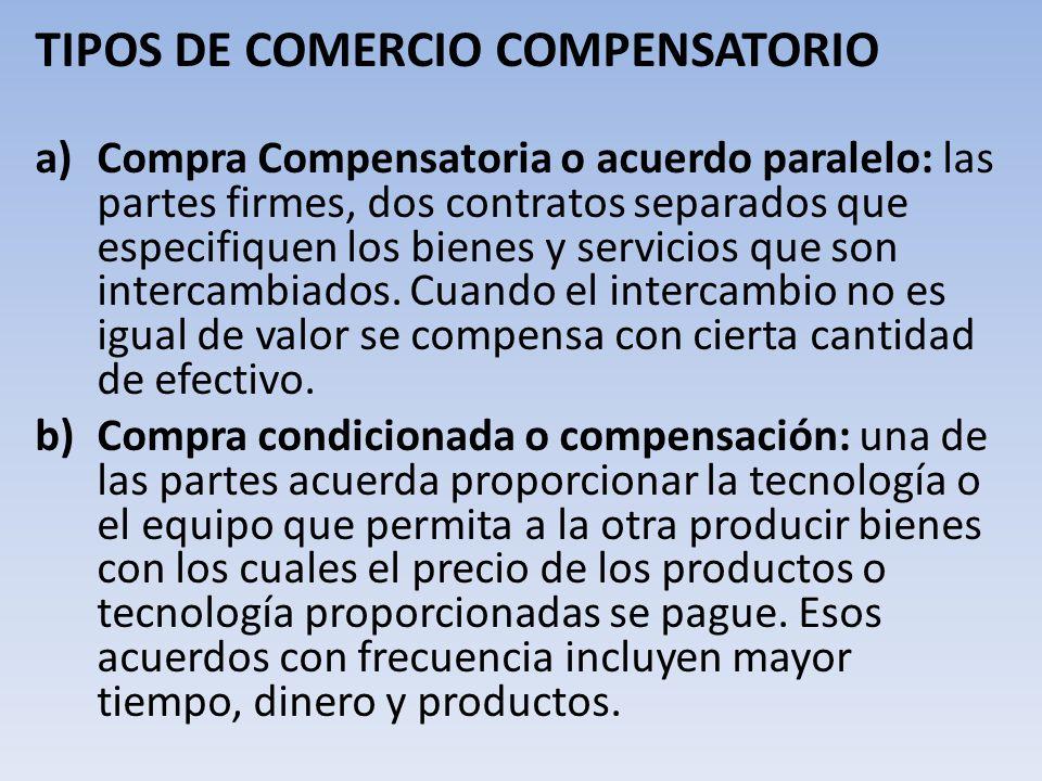 TIPOS DE COMERCIO COMPENSATORIO