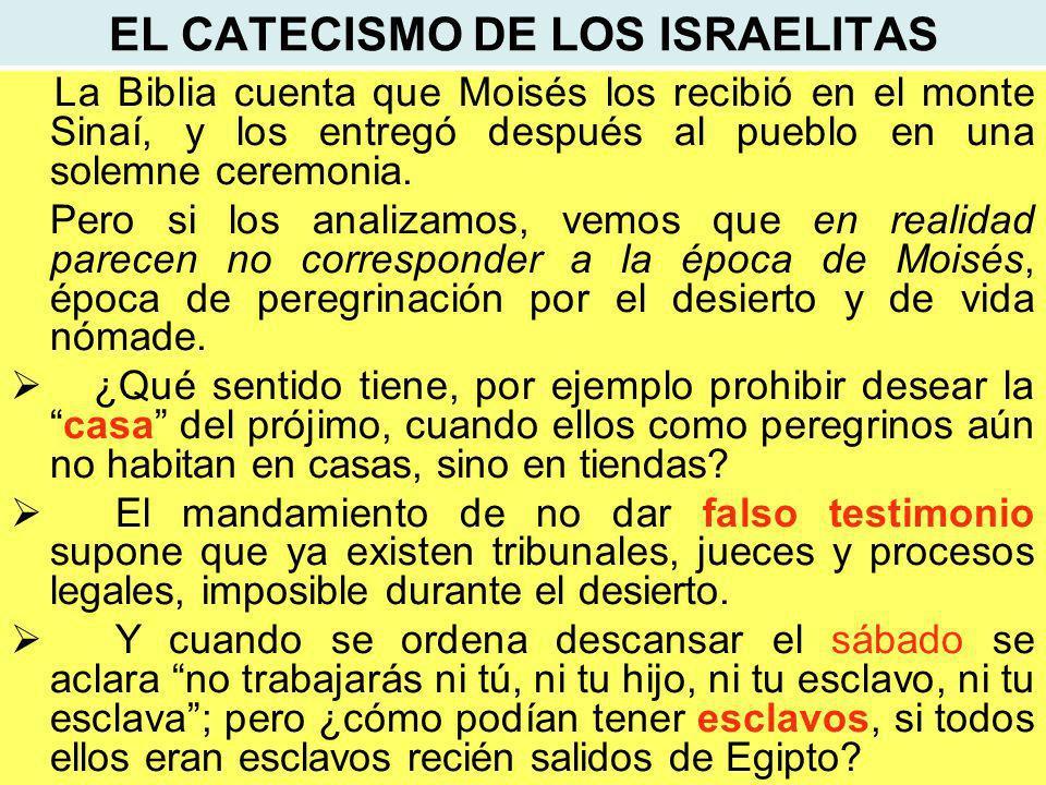 EL CATECISMO DE LOS ISRAELITAS
