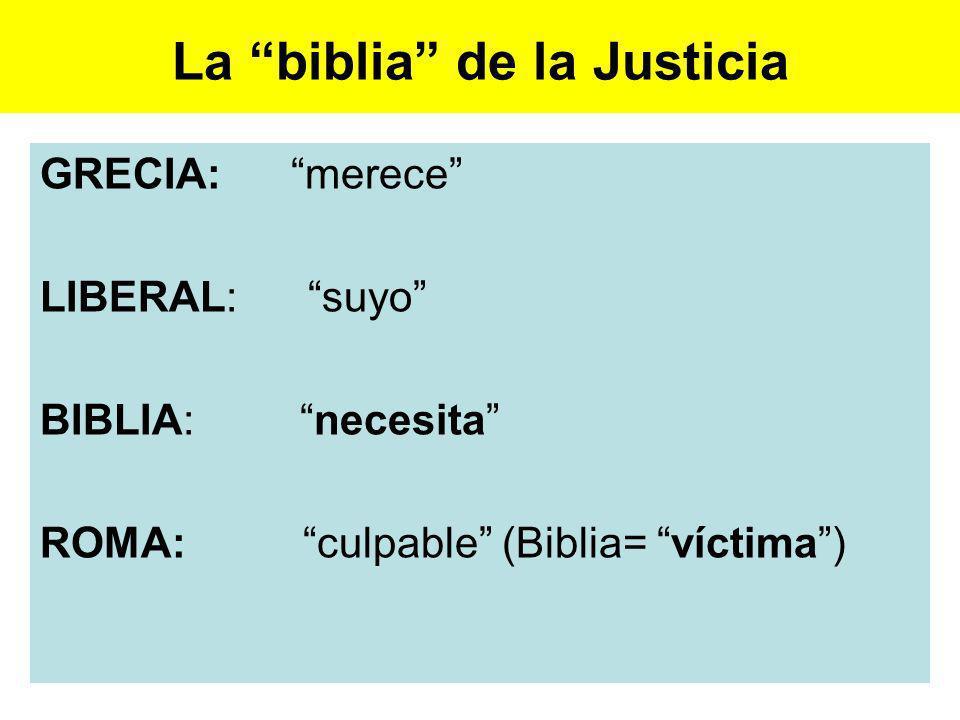 La biblia de la Justicia