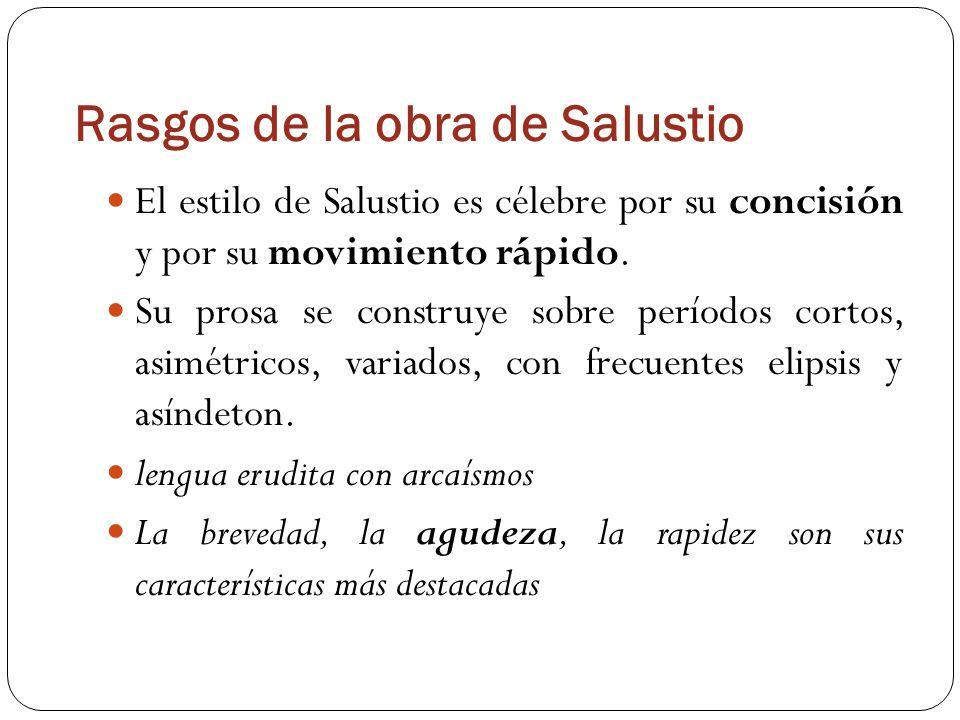 Rasgos de la obra de Salustio