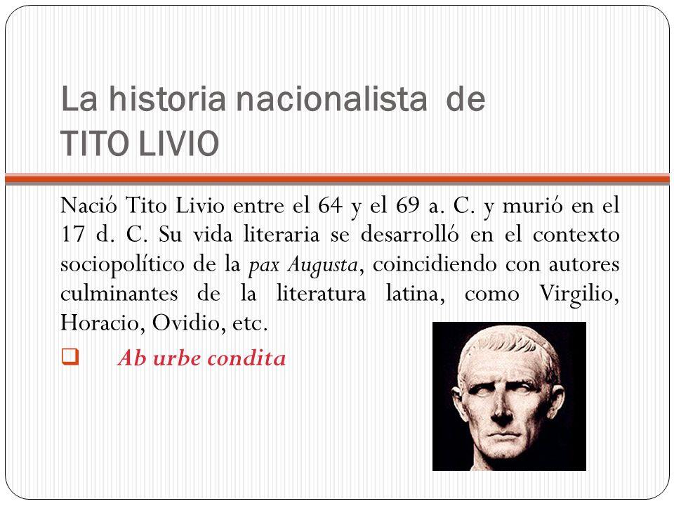 La historia nacionalista de TITO LIVIO