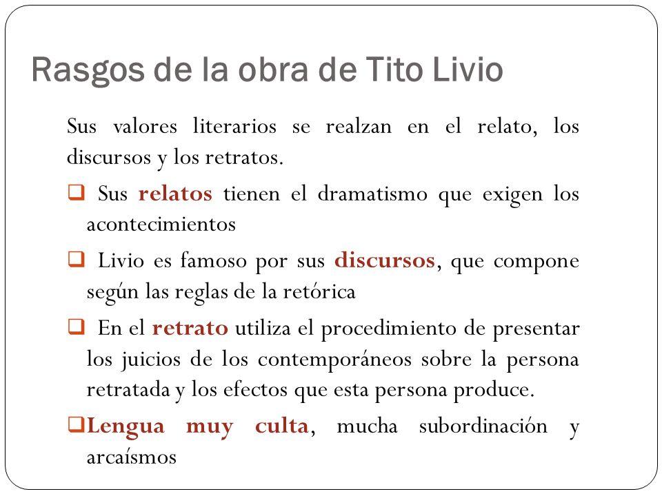 Rasgos de la obra de Tito Livio