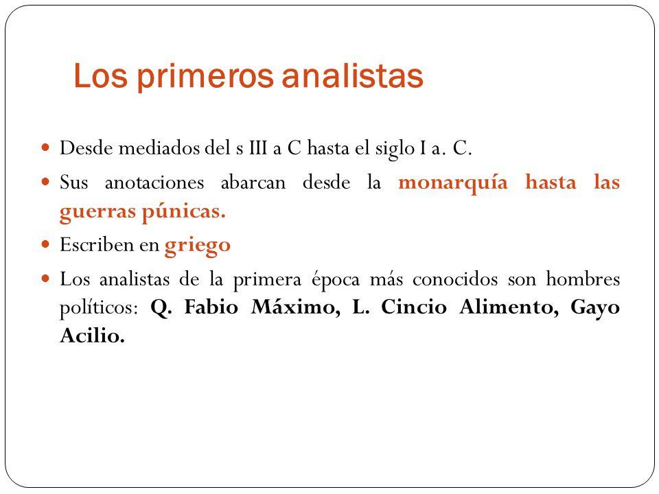 Los primeros analistas