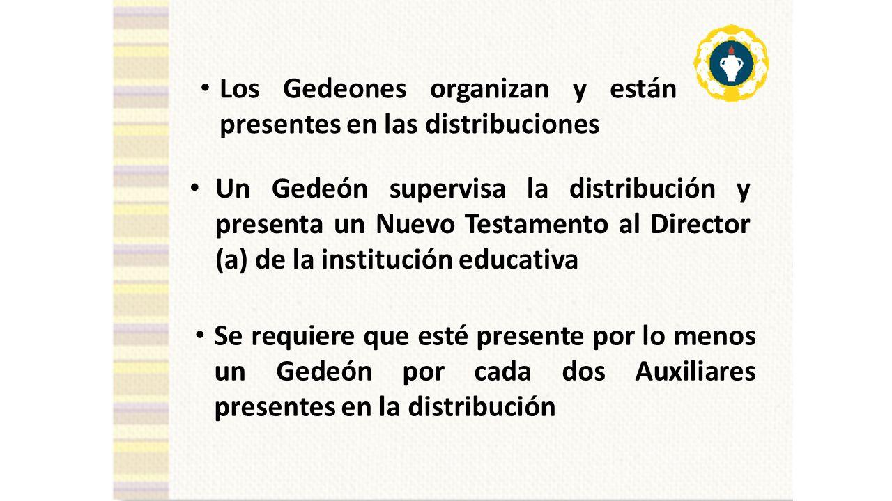 Los Gedeones organizan y están presentes en las distribuciones
