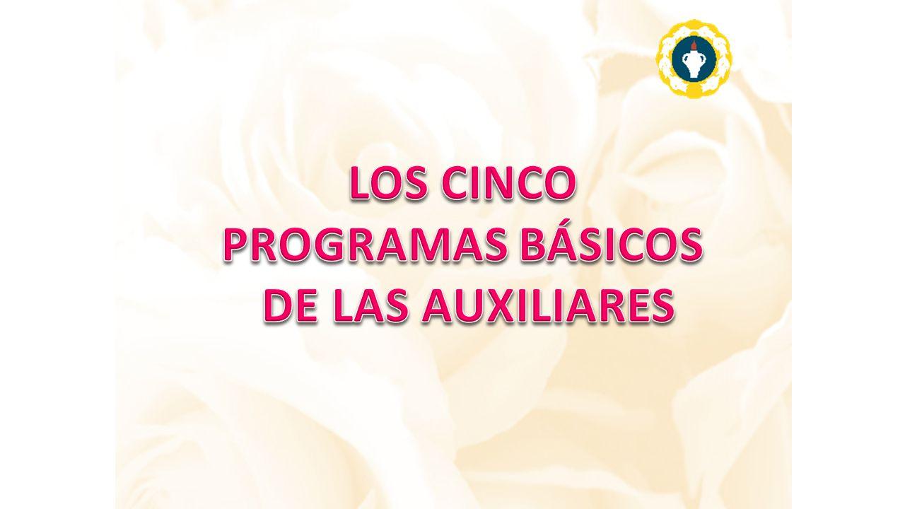 LOS CINCO PROGRAMAS BÁSICOS DE LAS AUXILIARES
