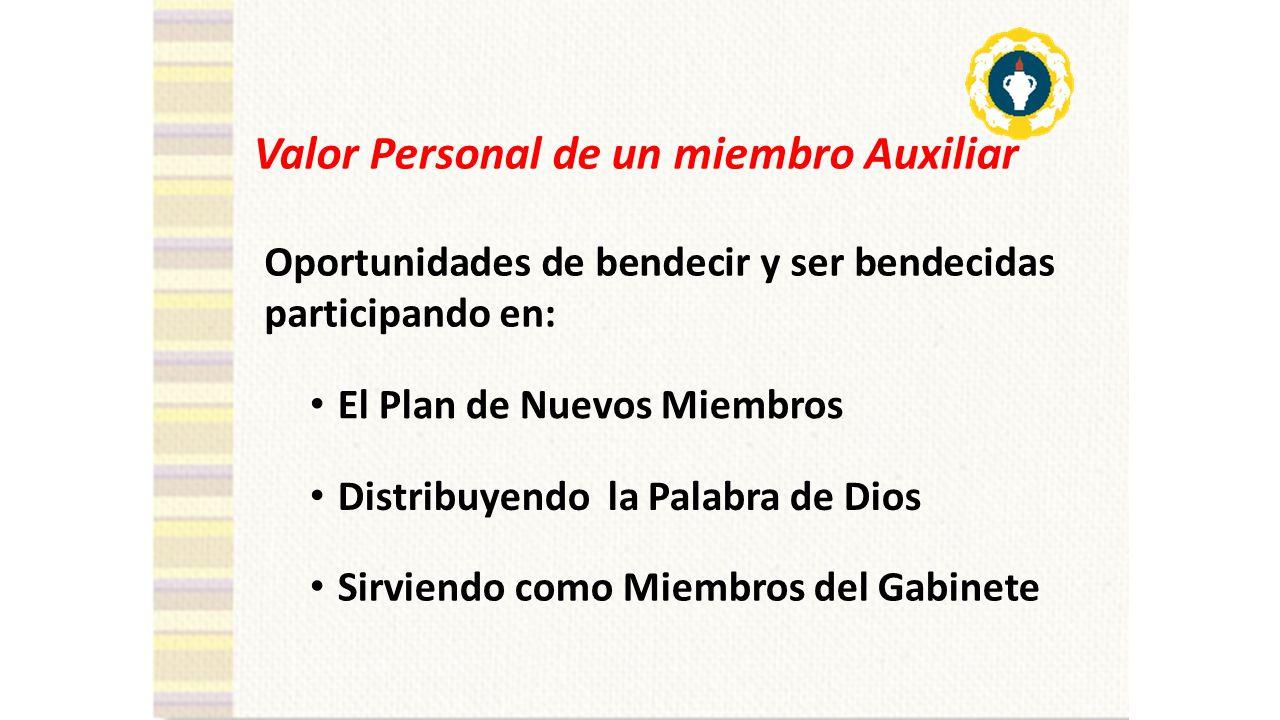 Valor Personal de un miembro Auxiliar