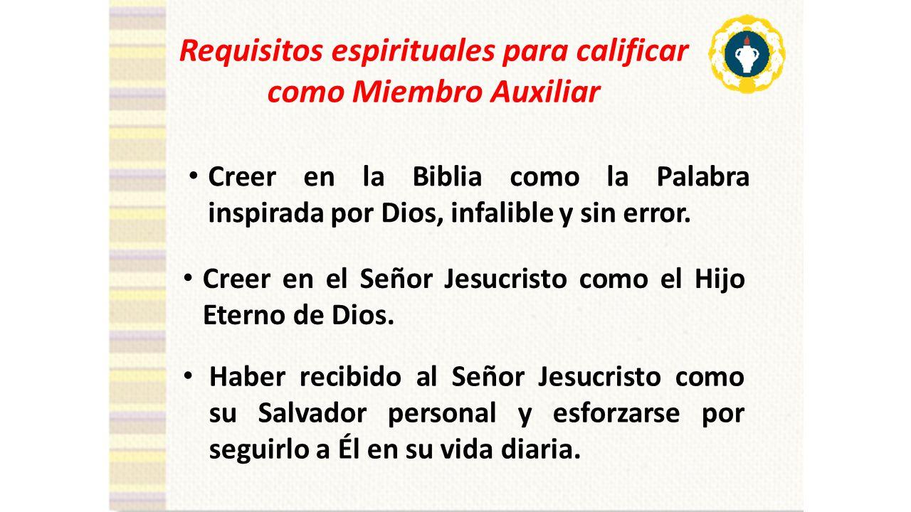 Requisitos espirituales para calificar como Miembro Auxiliar