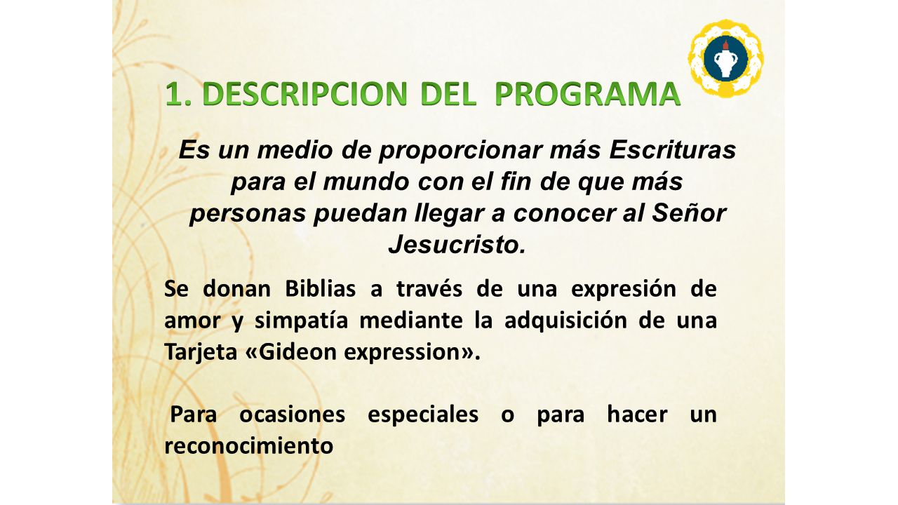 1. DESCRIPCION DEL PROGRAMA