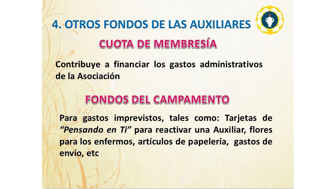 4. OTROS FONDOS DE LAS AUXILIARES