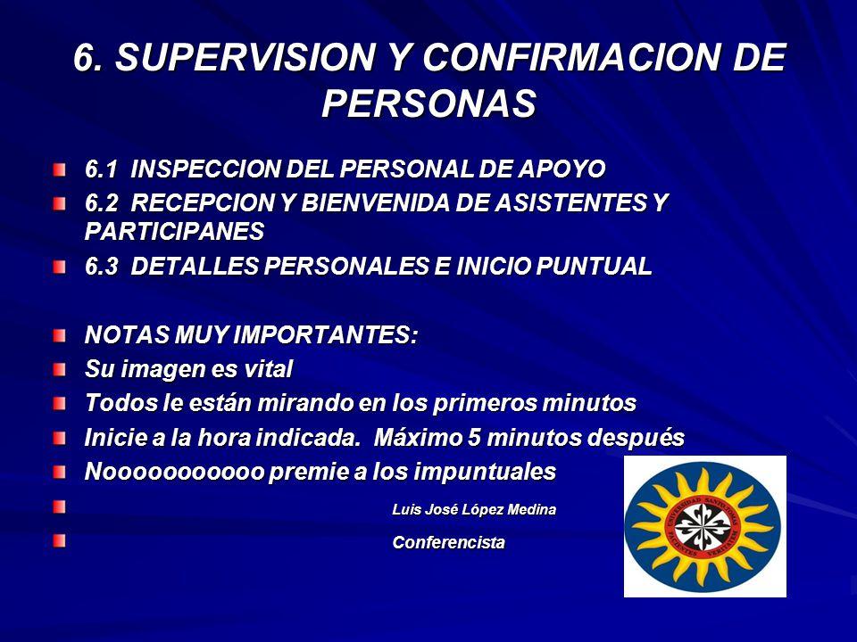 6. SUPERVISION Y CONFIRMACION DE PERSONAS