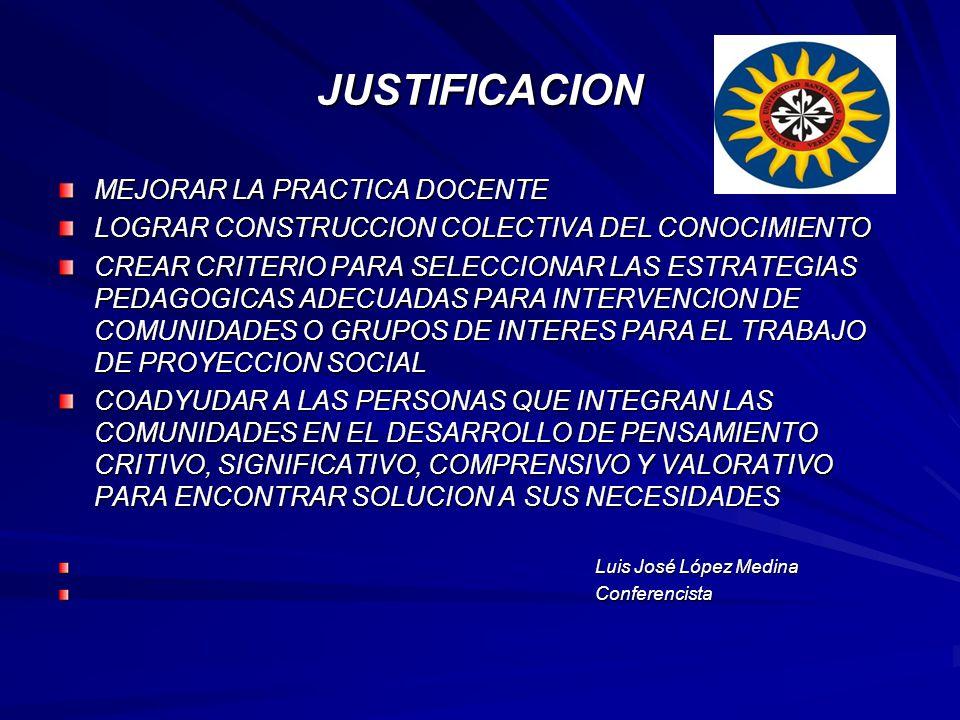 JUSTIFICACION MEJORAR LA PRACTICA DOCENTE